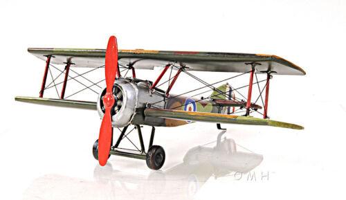 "British Sopwith Camel F.1 Biplane Metal Desk Model 10/"" Airplane Aircraft Decor"