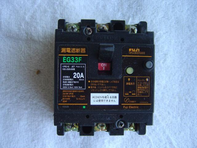 FUJI ELECTRIC EB3BEAC-050B EG53AC 50A 3-Pole 100-230VAC Circuit Breaker