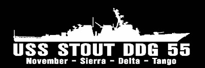 USS STOUT DDG 55 Decal US NAVY Military USN S01