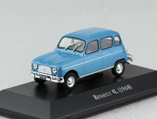 Renault 4L blau 1968 Blister 1:43 Salvat Ixo Modellauto