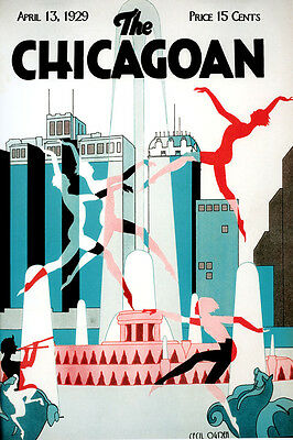 Chicago Illinois Dance Jazz Music Theater Tourism Vintage Poster Repro FREE S//H
