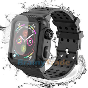 For-Apple-Watch-Series-4-5-40-44mm-Shockproof-Case-Cover-Screen-Protector-Black