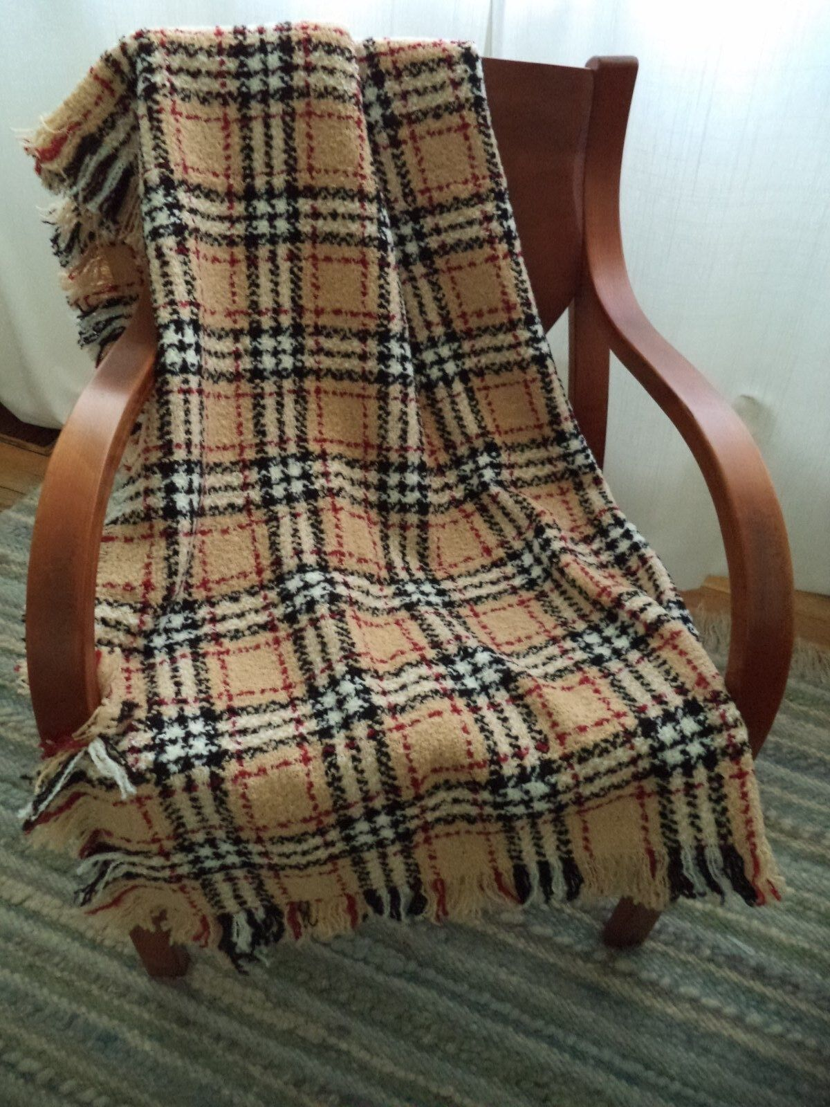 Irlandés Tartán Manta Cobertor Branigan Weavers Irlanda Camello Rojo Negro blancoo De Lana