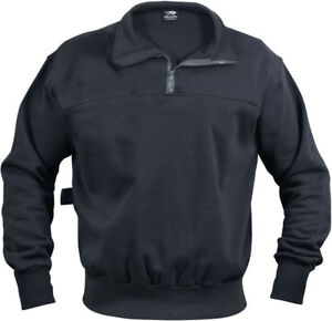 Navy-Blue-Heavyweight-Long-Sleeve-Firefighter-EMS-1-4-Zip-Work-Shirt