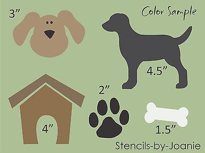 Pet Stencil Dog House Bone Puppy Paw Print Track Back Yard Porch Art