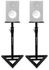 Rockville Adjustable Studio Monitor Speaker Stands for Yamaha HS8 Monitors - Set of 2