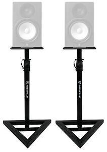 2-Rockville-Adjustable-Studio-Monitor-Speaker-Stands-For-Yamaha-HS8-Monitors