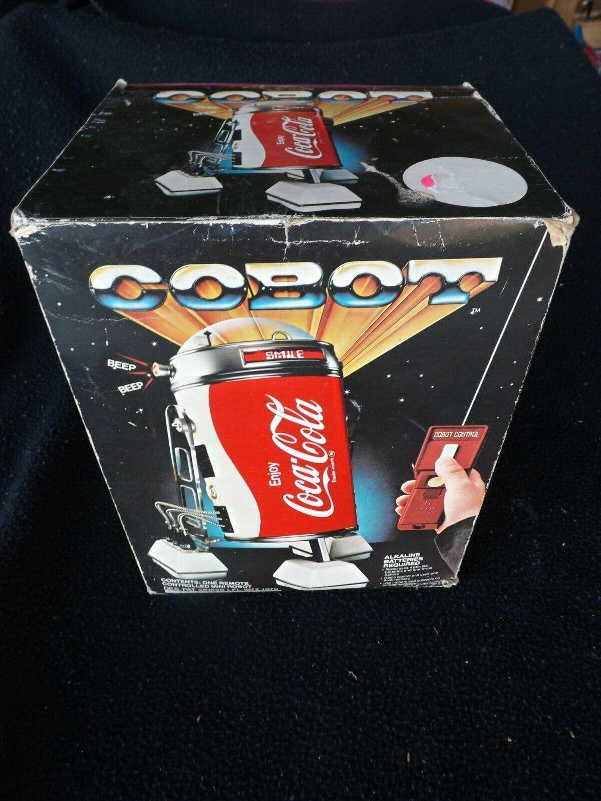 Vintage 1970's Coca-Cola Cobot R2-D2 Remote Control Can Robot Toy In Original Bo