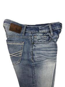 Buckle BKE Mens Jake Straight Leg Blue Jeans Button Fly ...