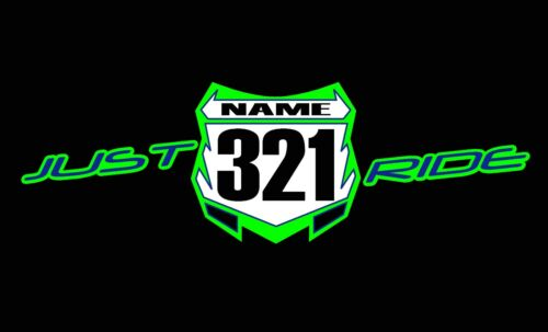 Hettegenser Sweat Kawasaki Shirt Antall Ride Mx Lime Just Motocross Plate Custom Kx qax1p