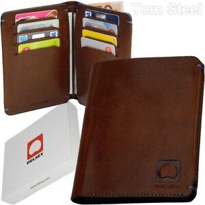 DELSEY-Boerse-ohne-Muenzfach-Ausweis-Etui-Geldschein-Huelle-Geld-Karten-Mappe-Leder