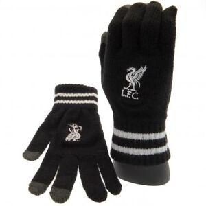 Kreativ Offizielle Schwarze Handschuhe Des Liverpool-fußballvereins Wappenabzeichenberüh