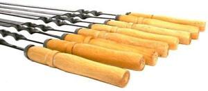 Set-of-6-Stainless-Steel-Skewers-Shashlik-Shampur-Kebab-BBQ-Meat-Mangal-Grill