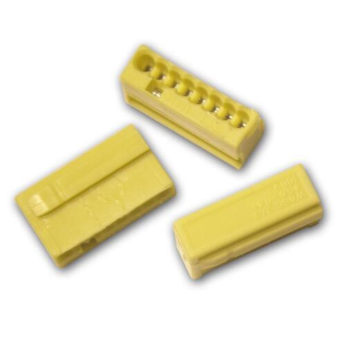 10 Pezzi WAGO Micro-steckklemmen 8x 0,6-0,8 mm² Giallo connessione morsetto morsetto