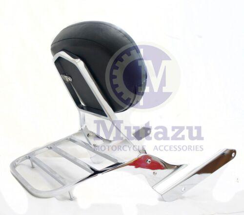 Chrome Sissy Bar Backrest /& Luggage Rack for Honda Shadow 600 VLX VT 1999-2008