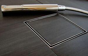 pro flach edelstahl bodenablauf duschrinne badablauf hofablauf terrasse siphon ebay. Black Bedroom Furniture Sets. Home Design Ideas