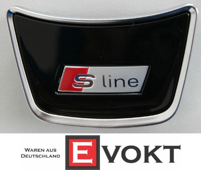 Audi Q5 Steering Wheel Clip S-line Logo 3-Spoke Chrome 06/2012-2015 Genuine New