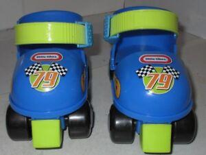 Little-Tikes-Adjustable-Skates-Starter-Set-Blue-1-2-3-Nice-Used-Roller-Pair-Kids