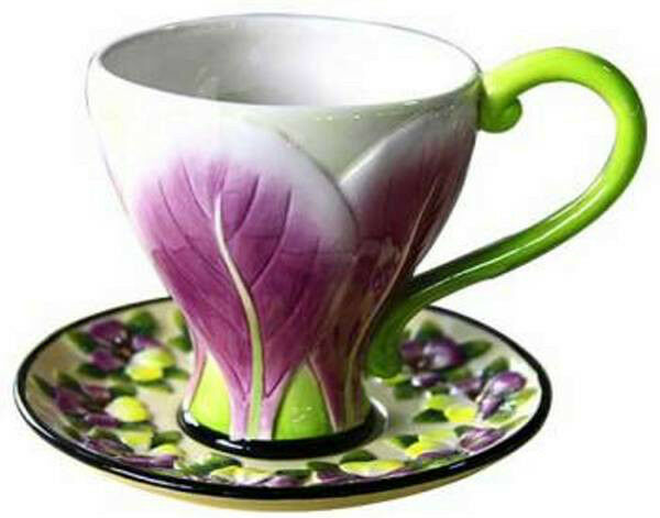 TULIP CUP AND SAUCER - ICING ON THE CAKE - JEANETTE McCALL - RETIRED