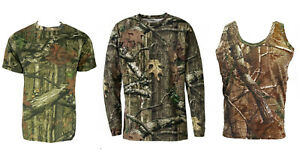 Mens-Jungle-Print-Short-amp-Long-Sleeve-T-Shirt-or-Vest-Camo-Regular-to-Plus-Size