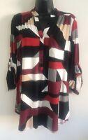 NEW Ex Wallis Multi Block Abstract Print Button Shirt Blouse Top Size S/M/L/XL