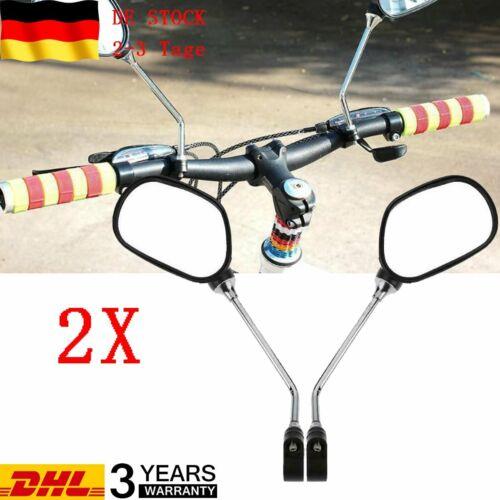 2er Set Fahrradspiegel Lenkerspiegel Rückspiegel für Rechts//Links Flache Spiegel