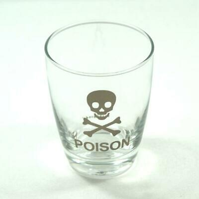 #1132106 $20 Poison Propaganda Glass Short, Screen Silver Color