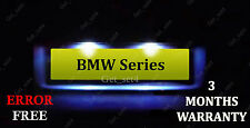 BMW 3 5 Series Xenon White LED NUMBER PLATE LIGHT Bulbs E90 E91 E46 ERROR FREE