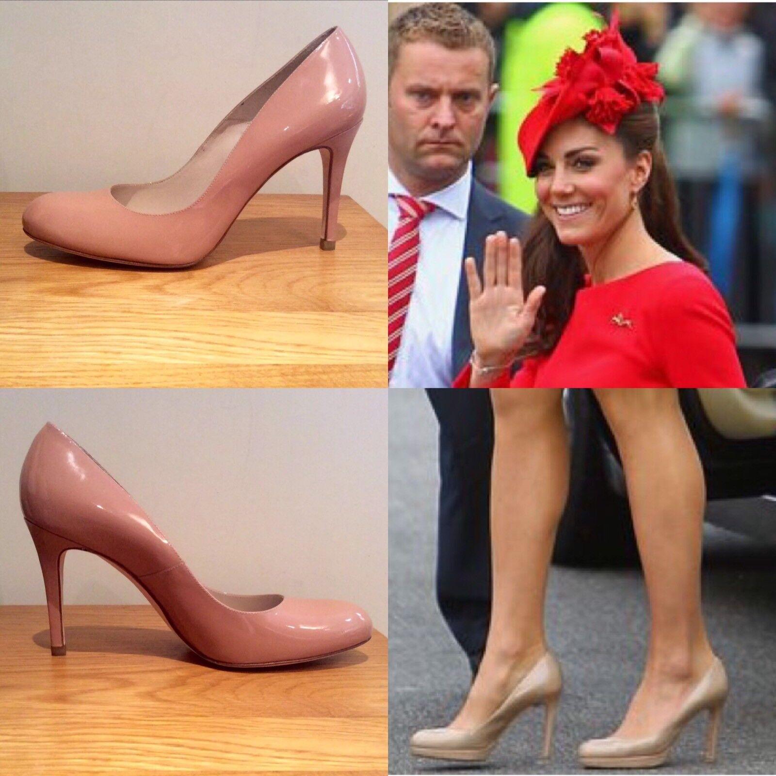 LK Bennett Tribunal Charol Zapatos Nude Charol Tribunal Tacón Stiletto BNWB tamaño 41 euros 8a0fb8