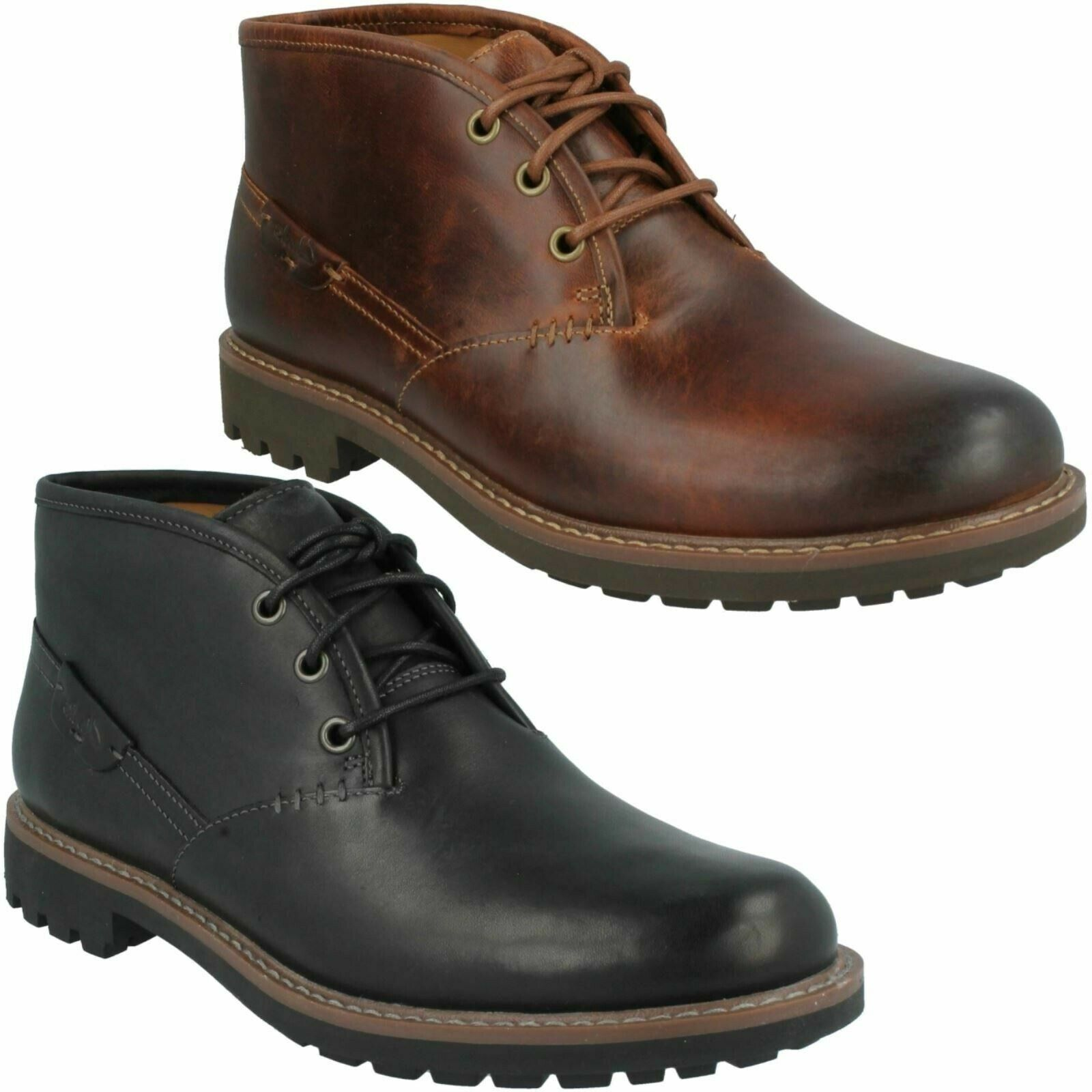 MENS CLARKS MONTACUTE DUKE LACE UP LEATHER CASUAL ANKLE DESERT WINTER BOOTS SIZE
