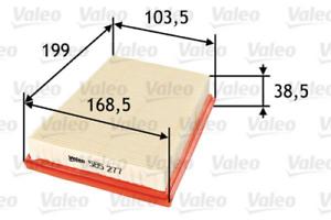 FILTRO ARIA PER ARIA approvvigionamento VALEO 585277