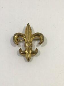 Vintage-Fleur-De-Lis-Pin-Brooch-Gold-Tone