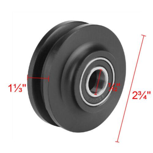 2X Grinding Spraying Barn Door Wheel Closet Hardware Kit Roller Cabinet Pulley