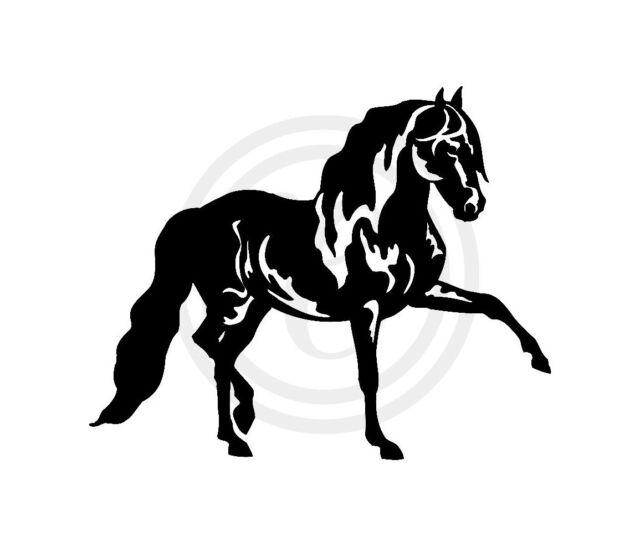 Dancing Horse Car Window Horse Float Gloss Vinyl Sticker Decal Black (#344)