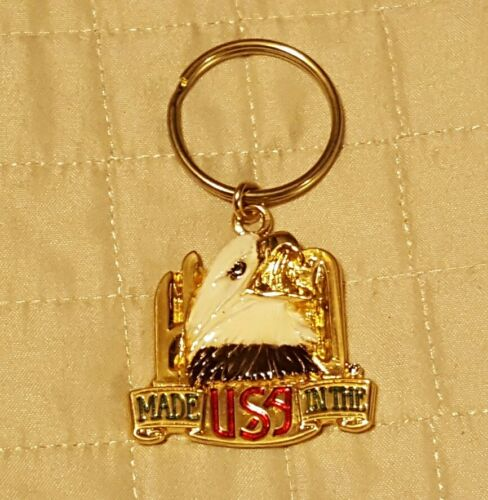 Harley Davidson metal key chain ring HD Eagle Head  Made in the USA vintage