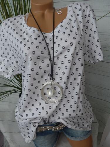 40//42-44//46 weiß schwarz 593 NEU Sheego Shirt Tunika Gr