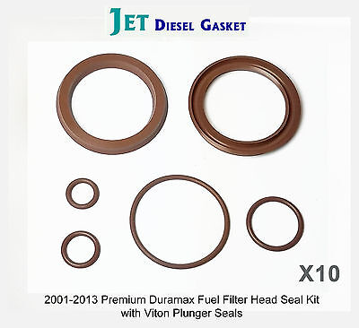 5 Pack Duramax Deluxe Fuel Filter Head Rebuild Kit Seals and Viton O-Rings DMAX