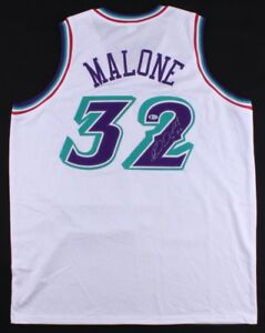 finest selection 397c8 9eb4d Details about Karl Malone Signed Utah Jazz Jersey (Beckett) / 14×NBA  All-Star / The Mailman