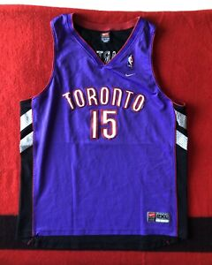 official photos f09f4 bf7f4 Details about VTG Nike Vince Carter Jersey Toronto Raptors Size 2XL  Stitched Rare NBA