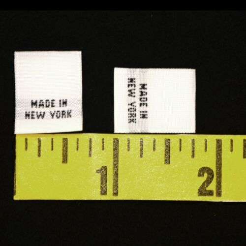 "1000 pcs WOVEN GARMENT SEWING LABELS /""MADE IN NEW YORK/"" in White Fast Shipping"