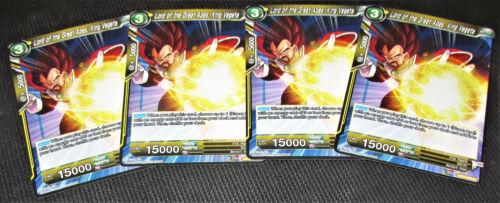 4x Lord of the Great Apes King Vegeta BT3-093 C Dragon Ball Super TCG NEAR MINT