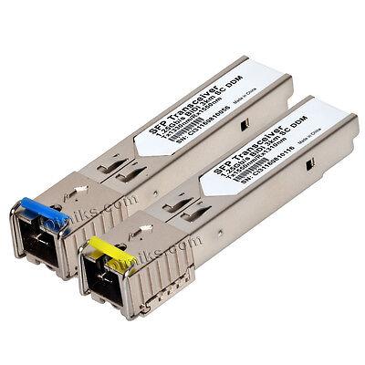 """5+5 3km SFP BiDi WDM 1G DDM /""""LC/"""" GLC-BX-D//U 3 km transceiver"""