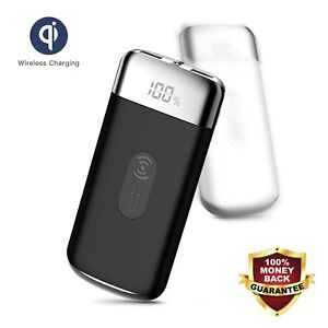 POWERNEWS-900000mAh-Power-Bank-Qi-Wireless-Charging-USB-Portable-Battery-Charger