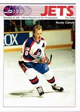 1989 Winnipeg Jets Home vs New York Rangers NHL Hockey Playoff Program #111