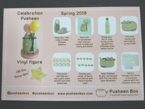 Pusheen Cat Subscription Box Exclusive Promo Item Key Card Spring 2018