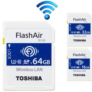 Details about 16/32GB/64GB TOSHIBA FlashAir W-04 Wireless SD Flash Memory  Card WiFi 90MB/s 4K