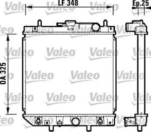 Details about VALEO Engine Cooling Radiator Fits DAIHATSU Charade Gran on