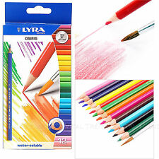 Lyra Watercolour Pencils - Water Colour Soluble Colouring x 12