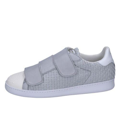 44 Scarpe Pelle Sneakers Bt591 Qtdchsr Uomo Eu Brimarts Grigio TF1uKJ3cl