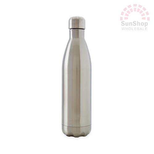 D.LINE Oasis 18/8 S/S Double Wall Insulated Water Drink Bottle 500ml Silver!